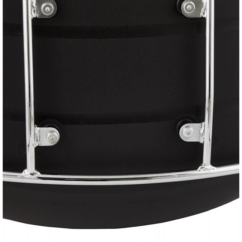 Tabouret de bar mi-hauteur design BRIO en polypropylène (noir) - image 27608