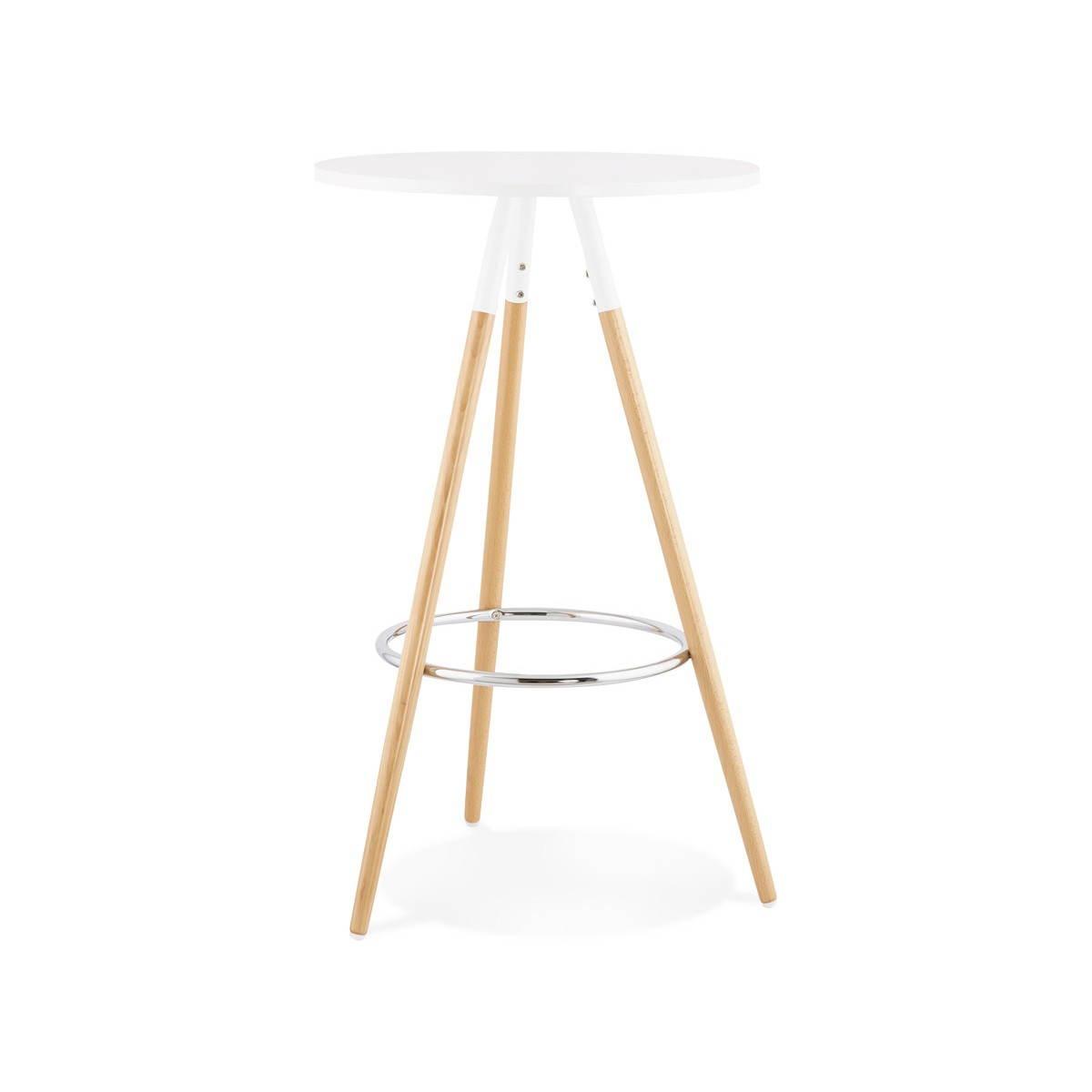 Runder Tisch Skandinavischen Julie Aus Holz O 65 Cm Hoch Weiss Natur
