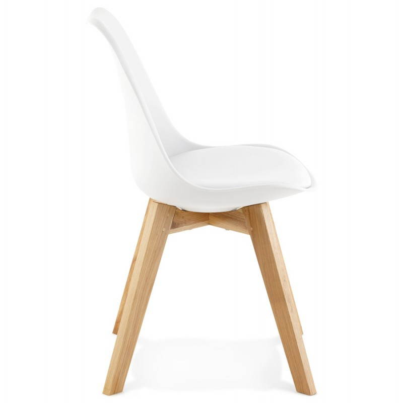 Chaise contemporaine style scandinave FJORD (blanc) - image 27625