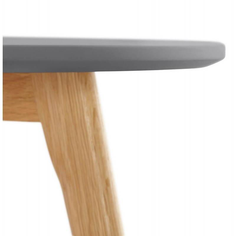 Tables Basses Design Gigognes Art En Bois Et Ch Ne Massif Gris Fonc