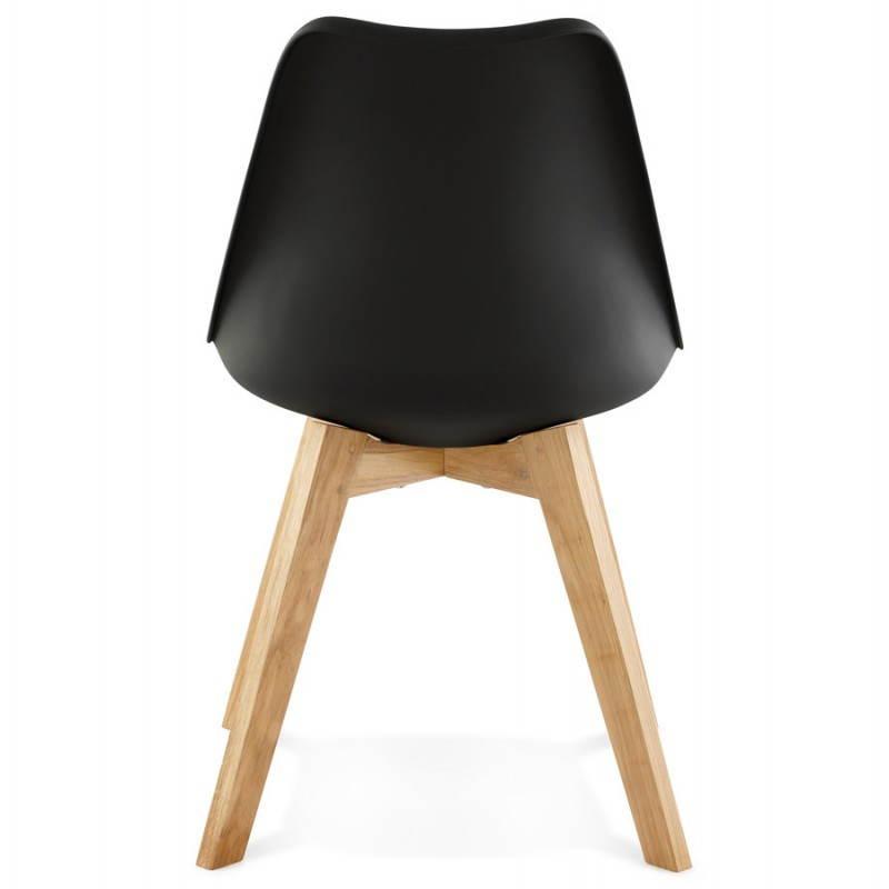 Chaise contemporaine style scandinave FJORD (noir) - image 27809