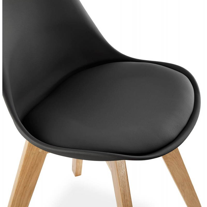Chaise contemporaine style scandinave FJORD (noir) - image 27810
