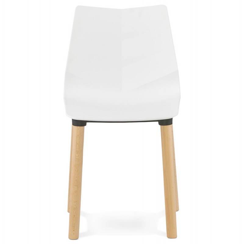 chaise design scandinave suede blanc. Black Bedroom Furniture Sets. Home Design Ideas