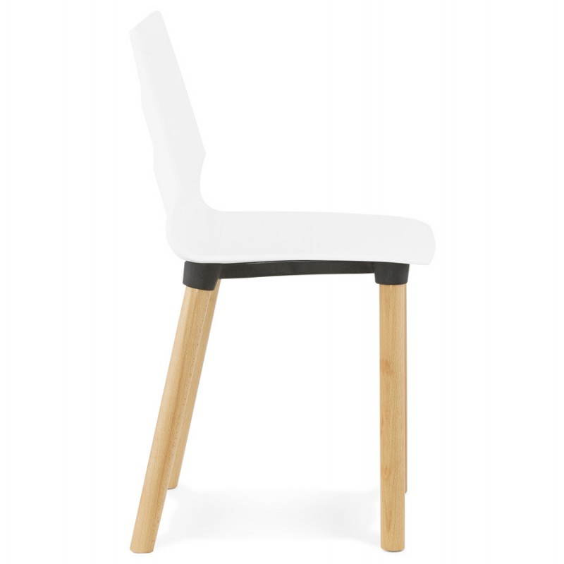 Chaise design scandinave SUEDE (blanc) - image 27819