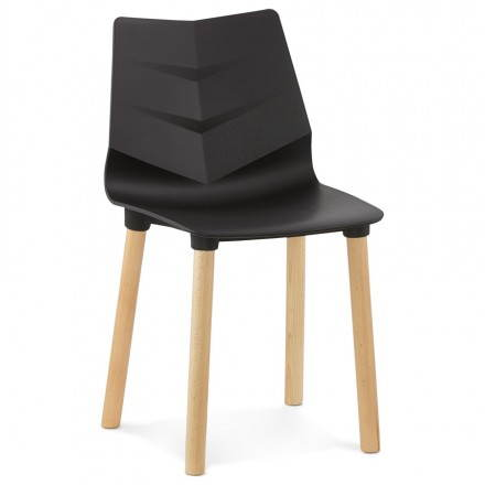 Chaise design scandinave SUEDE (noir)