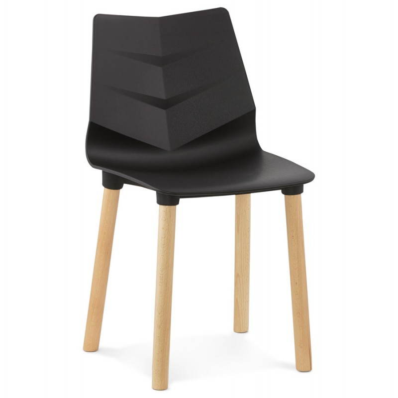 Chaise Design Scandinave Suede Noir