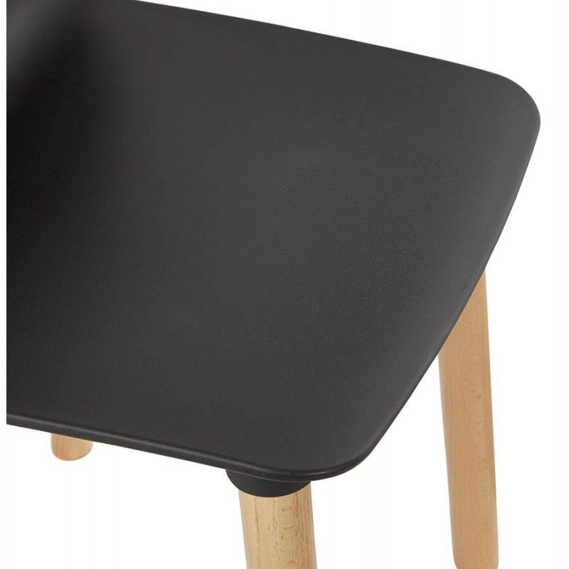 Chaise design scandinave SUEDE (noir) - image 27836