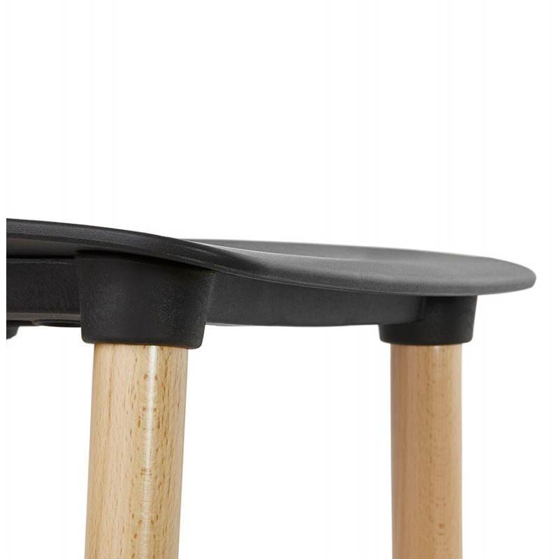 Chaise design scandinave SUEDE (noir) - image 27837