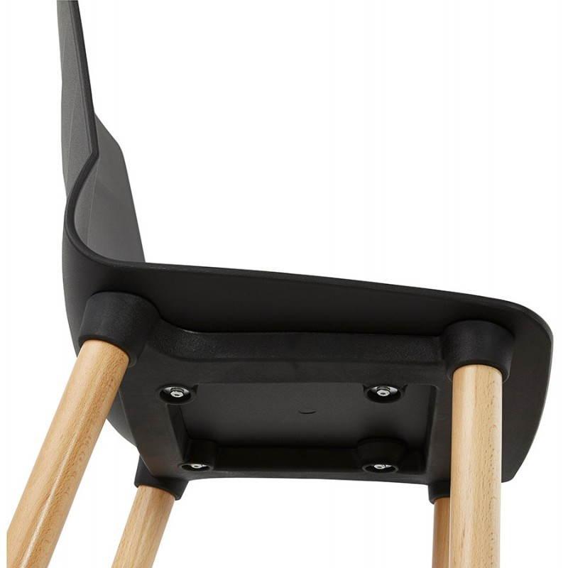 Chaise design scandinave SUEDE (noir) - image 27838