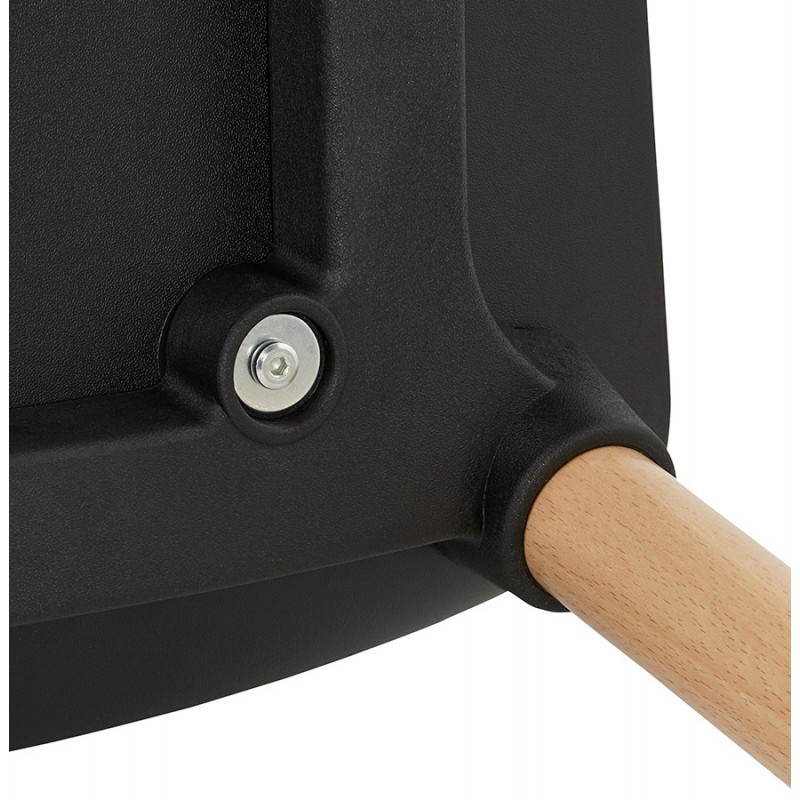 Chaise design scandinave SUEDE (noir) - image 27842