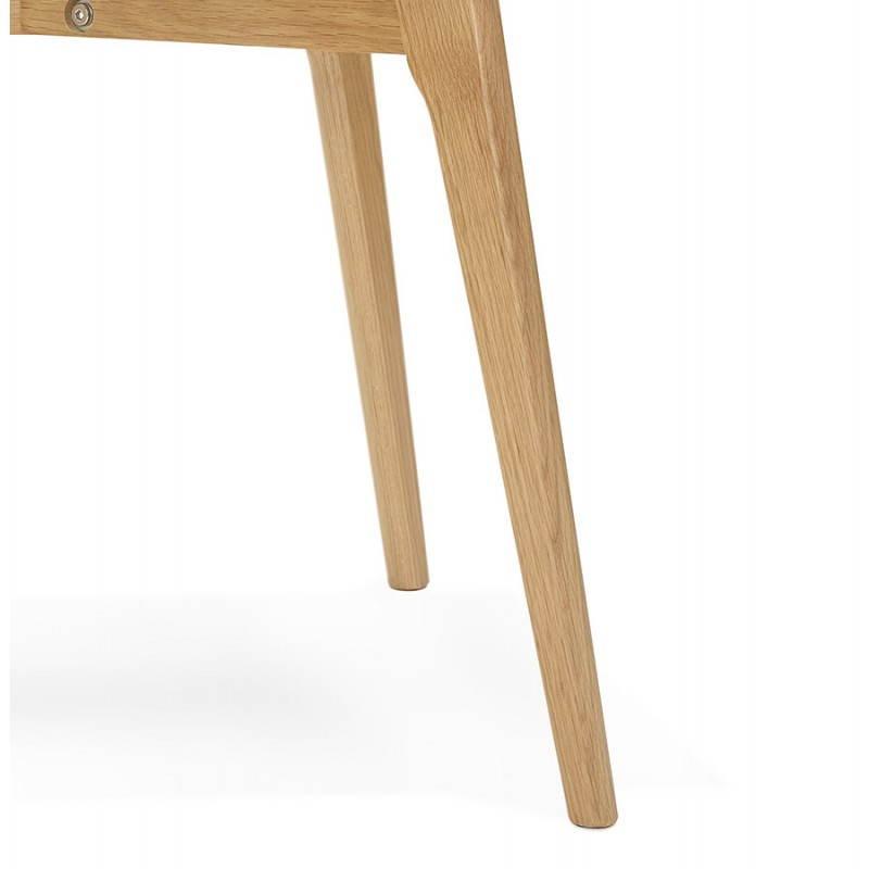 Table basse rectangulaire style scandinave HENNA en verre et chêne (transparent) - image 27880