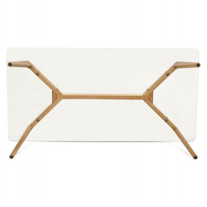 Rectangular coffee table style Scandinavian HENNA in glass and oak (transparent) - image 27881