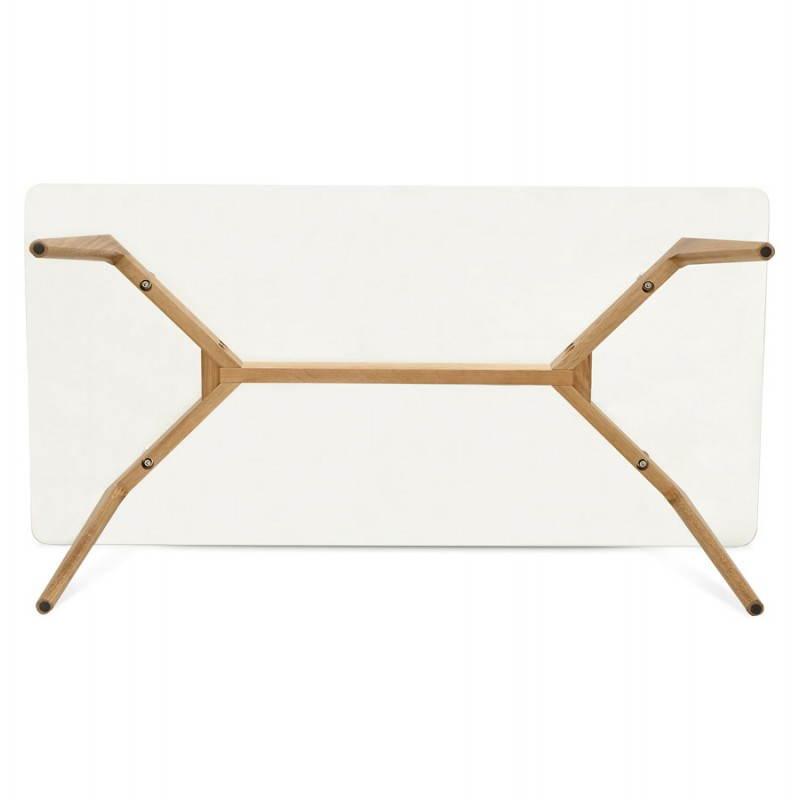 Table basse rectangulaire style scandinave HENNA en verre et chêne (transparent) - image 27881
