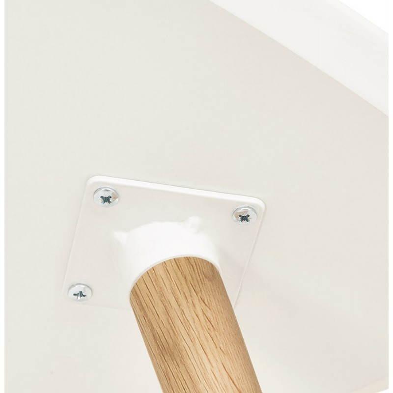 Tables basses design ovales gigognes GOLDA en bois et chêne massif (blanc) - image 27905