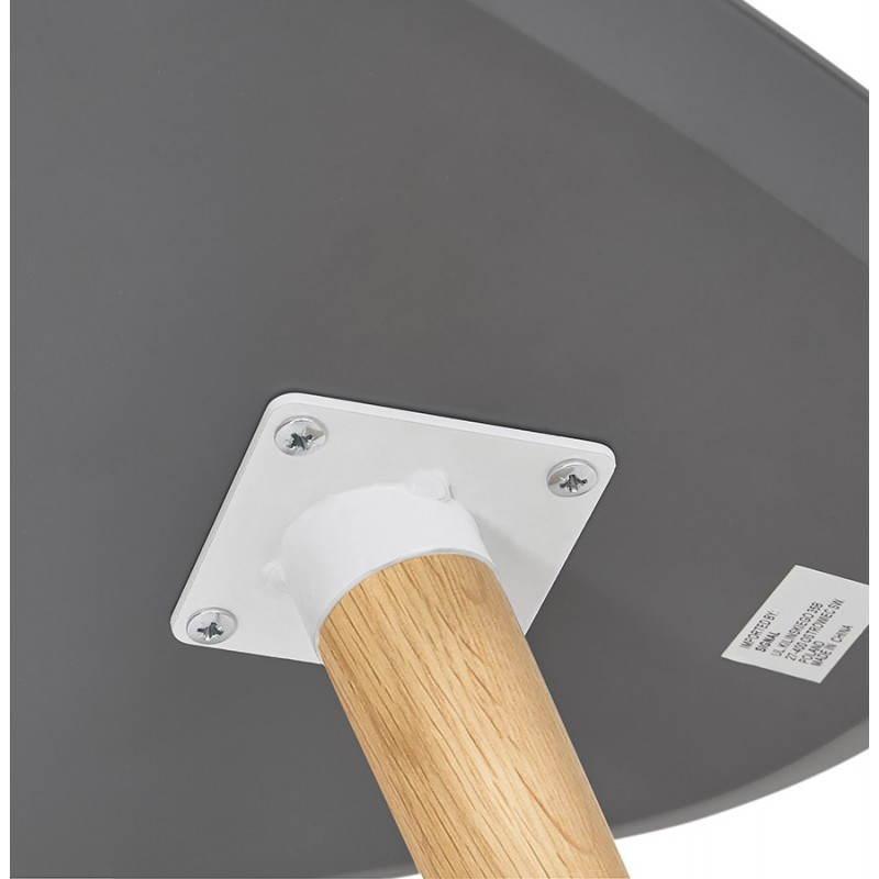 Tables basses design ovales gigognes GOLDA en bois et chêne massif (gris foncé) - image 27920
