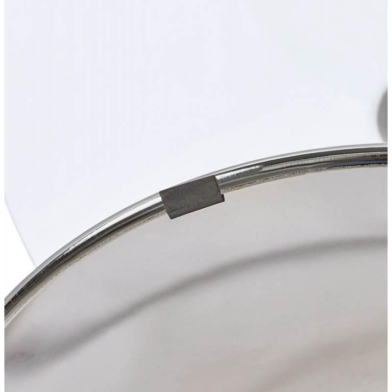 Diseño redondo OLAV comedor en vidrio y cromado (Ø 90 cm) tabla del metal (transparente) - image 27944