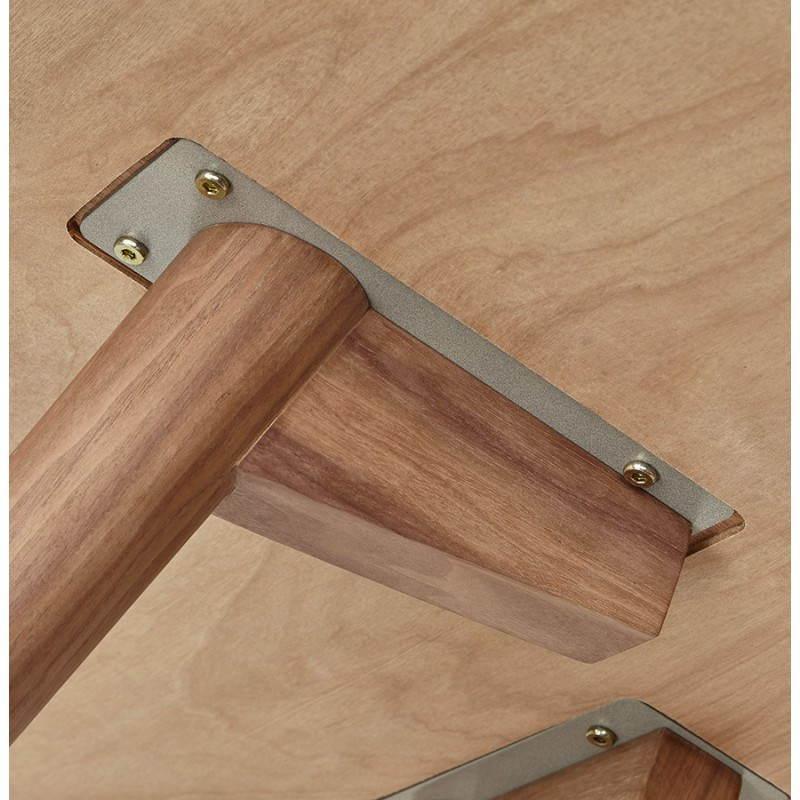 Table de repas ronde vintage style scandinave SOFIA en bois (Ø 120 cm) (finition noyer) - image 27955