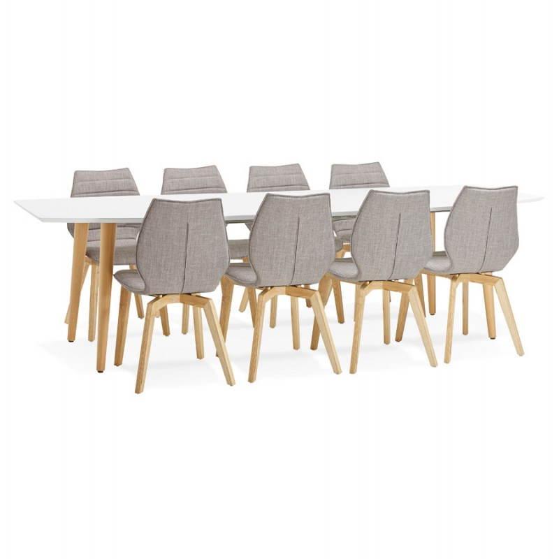 table manger style scandinave avec rallonges trine en. Black Bedroom Furniture Sets. Home Design Ideas