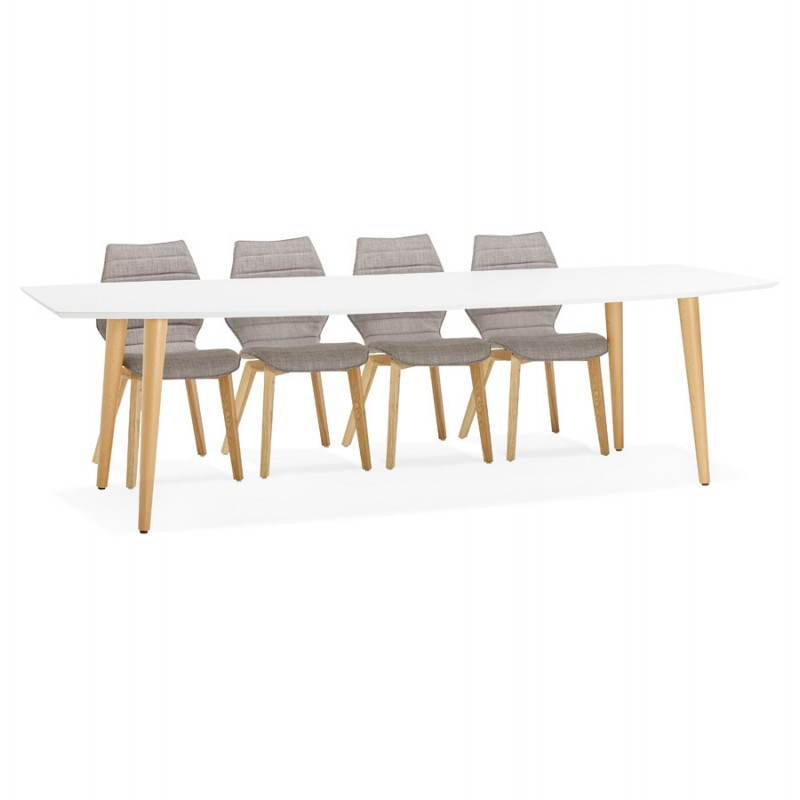 Table manger style scandinave avec rallonges trine en for Table a manger avec rallonge integree