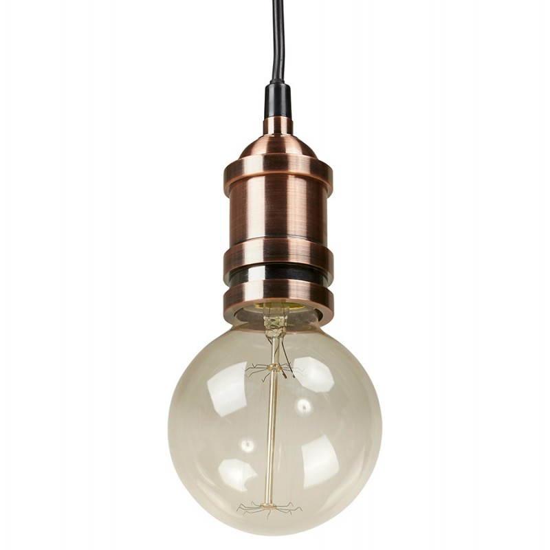 Douille pour lampe à suspension vintage industrielle EROS en métal (cuivre) - image 28224