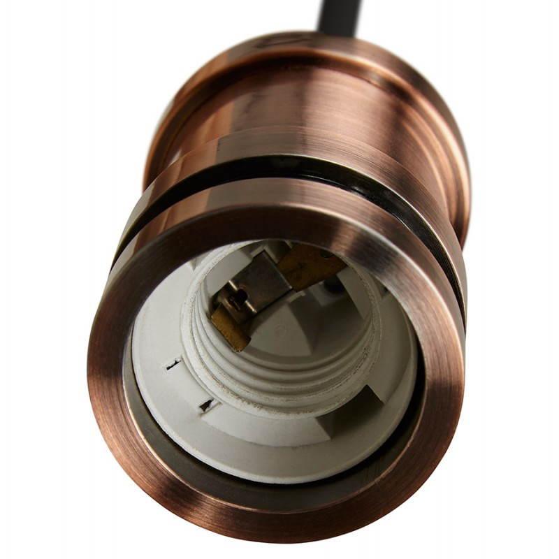 Douille pour lampe à suspension vintage industrielle EROS en métal (cuivre) - image 28227