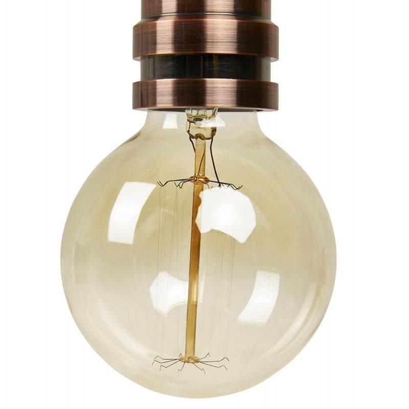 Douille pour lampe à suspension vintage industrielle EROS en métal (cuivre) - image 28228