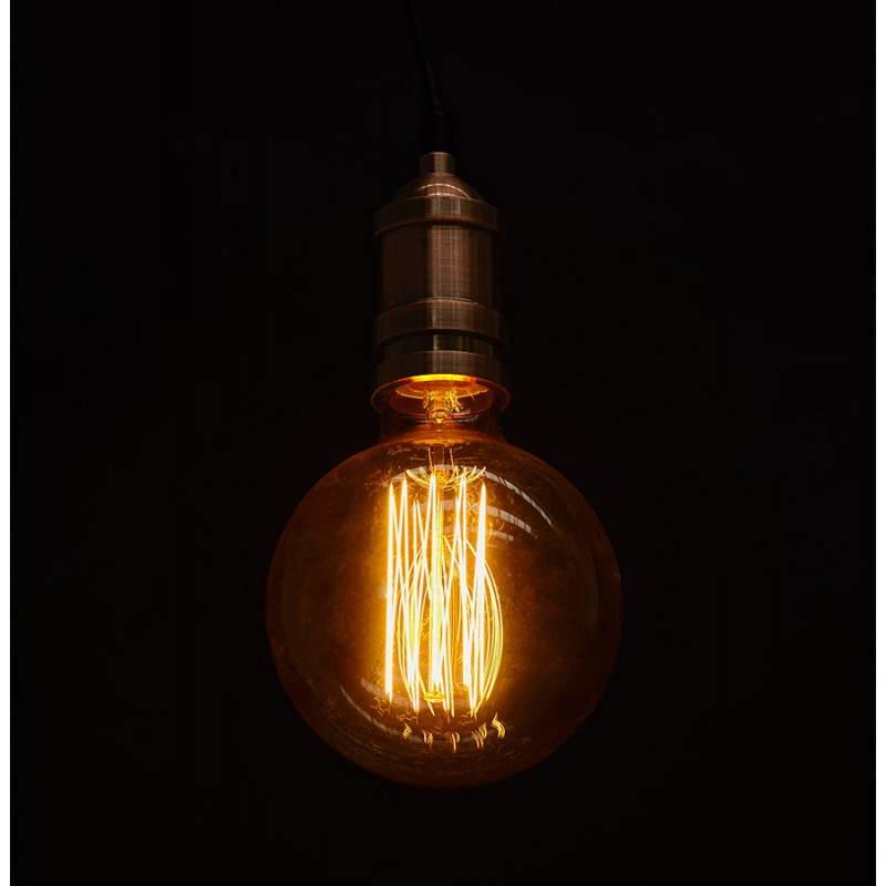 Douille pour lampe à suspension vintage industrielle EROS en métal (cuivre) - image 28237