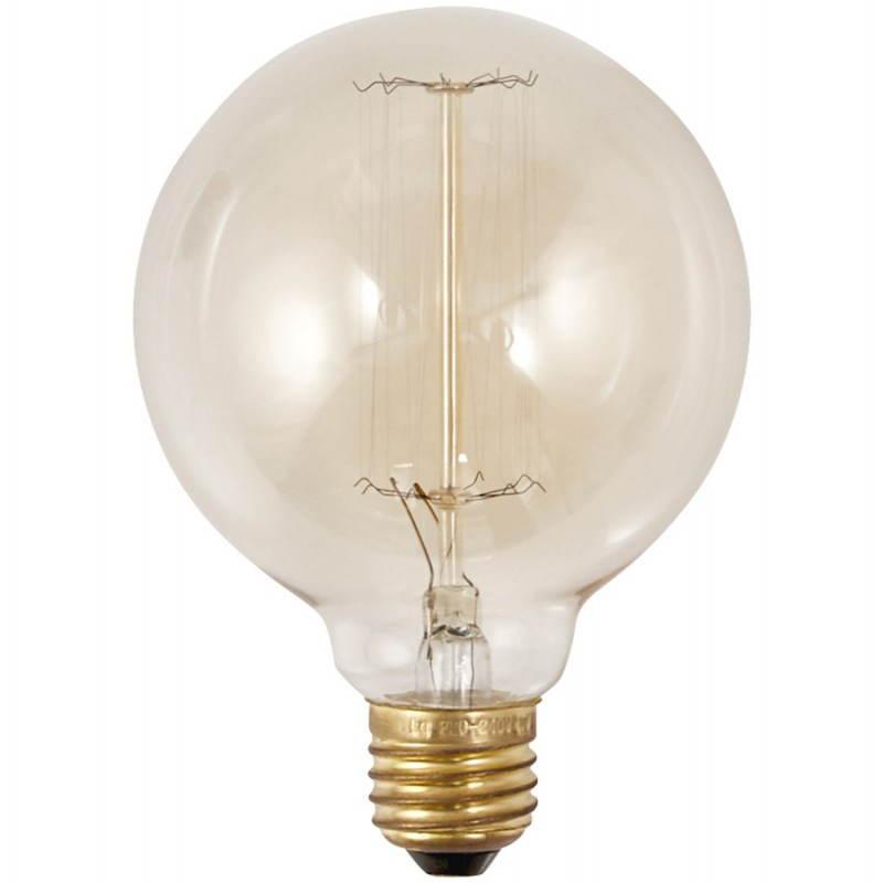 Ampoule ronde vintage industrielle IVAN en verre (transparent, fumé) - image 28239