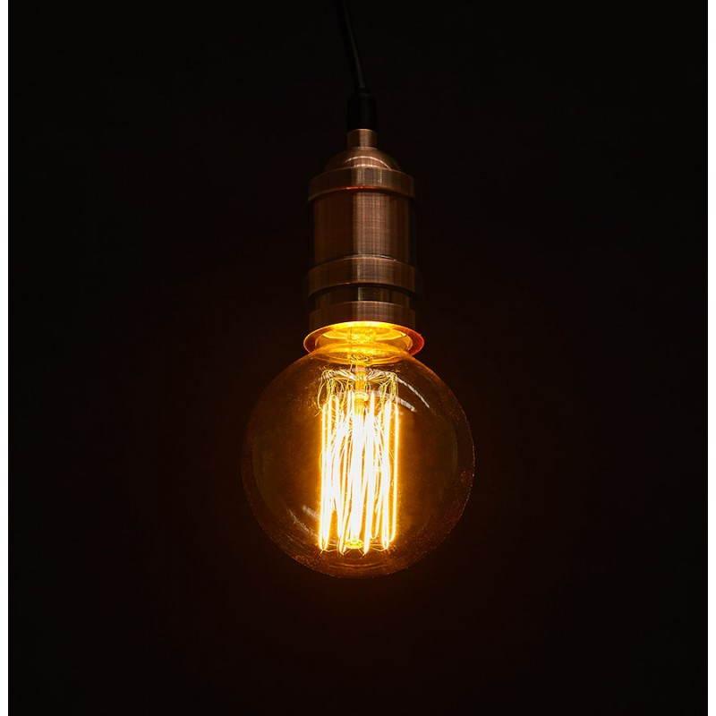 Ampoule ronde vintage industrielle IVAN en verre (transparent, fumé) - image 28245