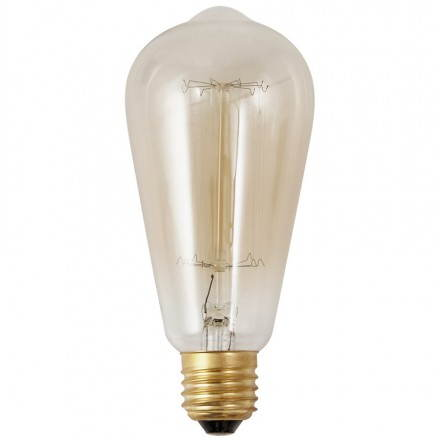 Bulb long industrial vintage IVAN glass (transparent, smoked)