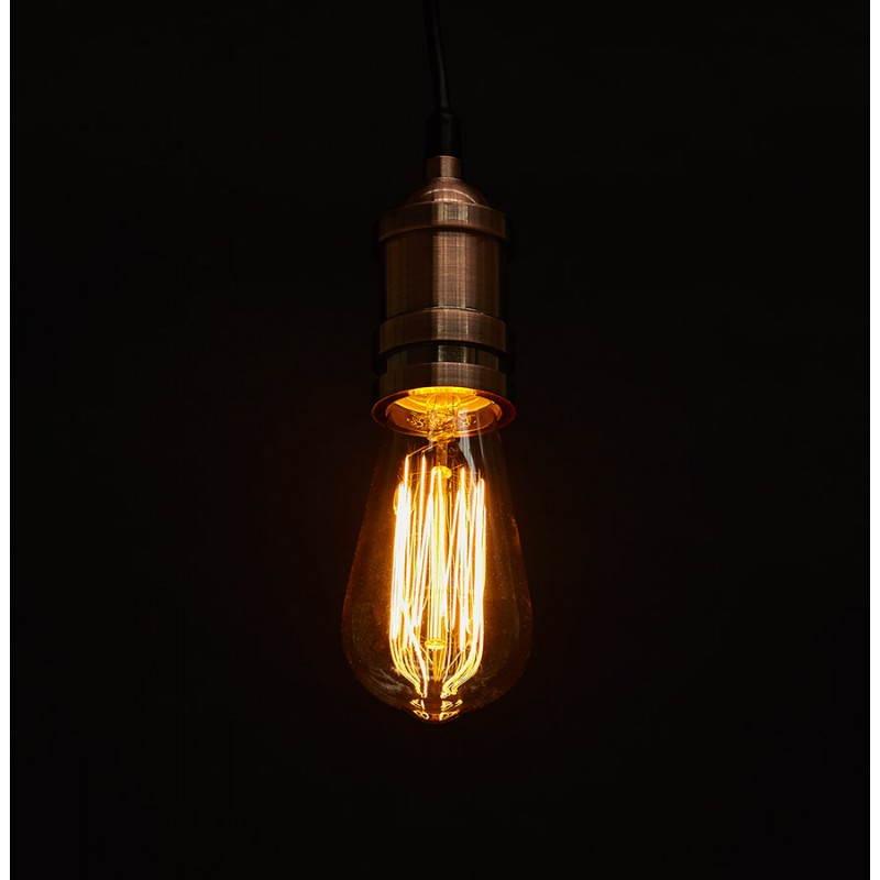 Ampoule longue vintage industrielle IVAN en verre (transparent, fumé) - image 28252