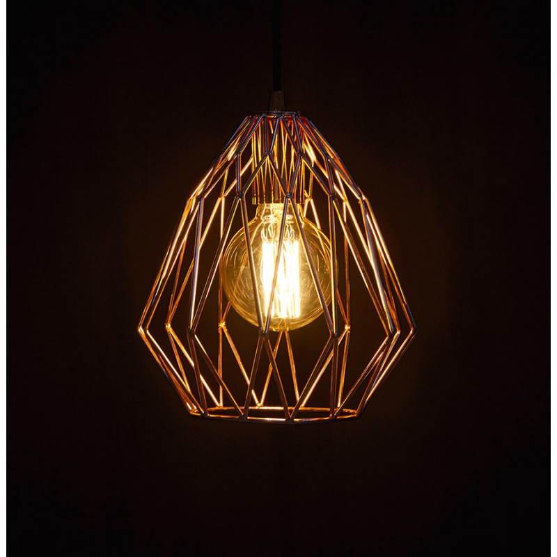 Lampe à suspension vintage MOSS en métal (cuivre) - image 28270