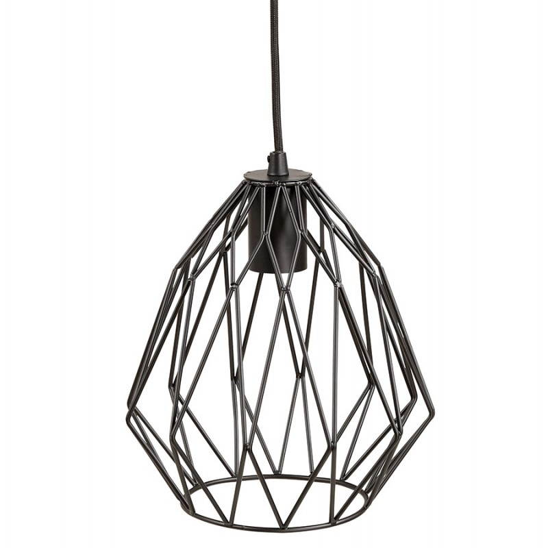 lampe suspension vintage moss en m tal noir. Black Bedroom Furniture Sets. Home Design Ideas
