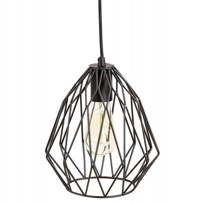 Lampe à suspension vintage MOSS en métal (noir) - image 28274