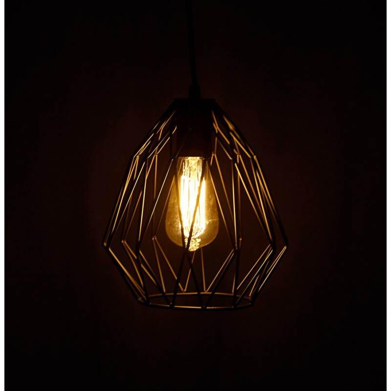 Lampe à suspension vintage MOSS en métal (noir) - image 28281