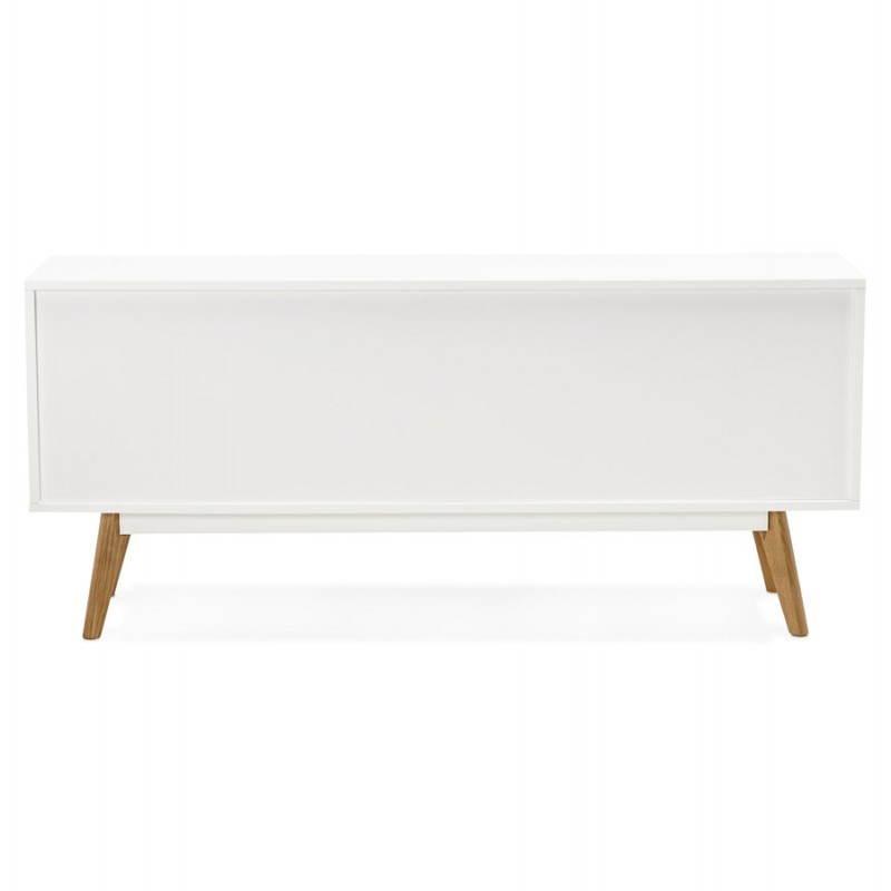 Progettazione di porte in legno di riga stile buffet scandinavo 2 KARL (bianco opaco) - image 28288