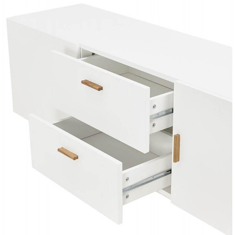Progettazione di porte in legno di riga stile buffet scandinavo 2 KARL (bianco opaco) - image 28289