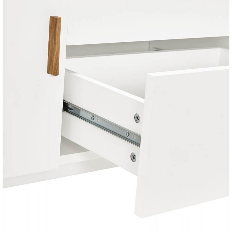 Progettazione di porte in legno di riga stile buffet scandinavo 2 KARL (bianco opaco) - image 28290