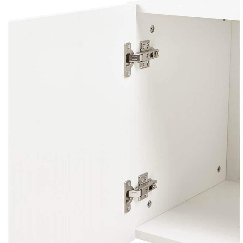 Progettazione di porte in legno di riga stile buffet scandinavo 2 KARL (bianco opaco) - image 28292