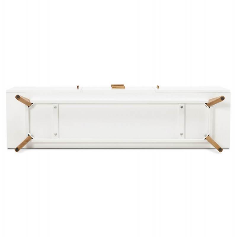Progettazione di porte in legno di riga stile buffet scandinavo 2 KARL (bianco opaco) - image 28295