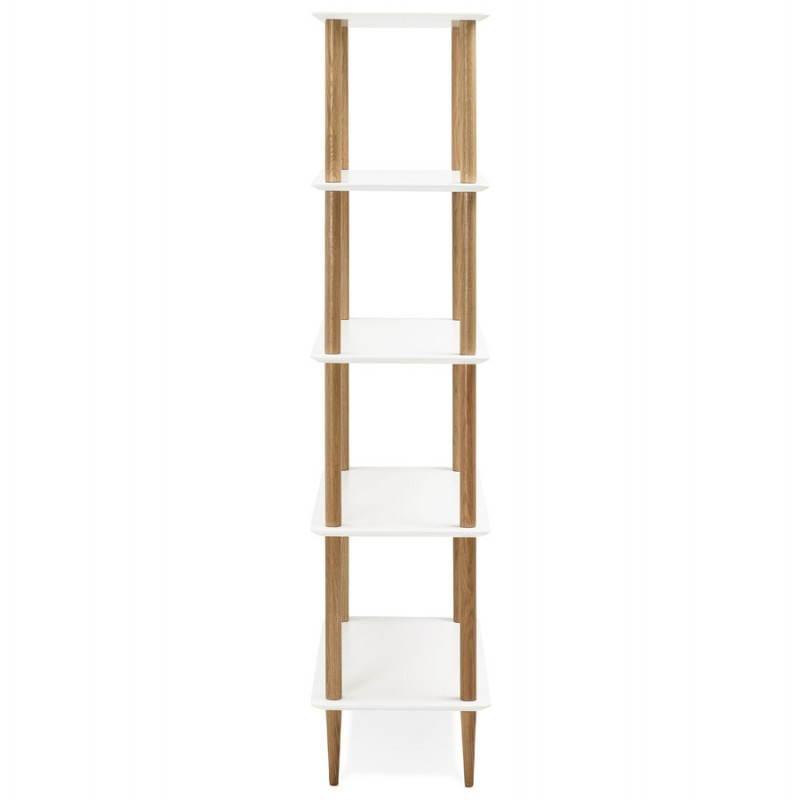 Etagère bibliothèque design style scandinave ERIKA en bois (blanc) - image 28301