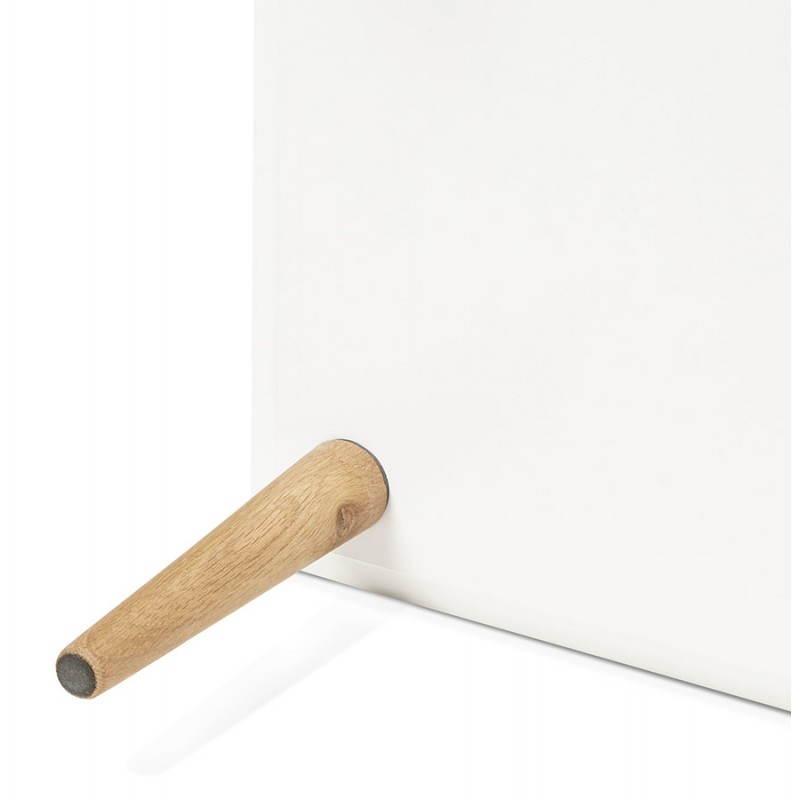 Etagère bibliothèque design style scandinave ERIKA en bois (blanc) - image 28305