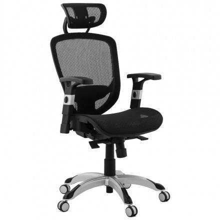 Design and modern office chair ergonomic AXEL (black) fabric