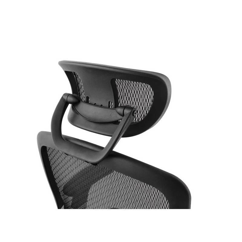Fauteuil de bureau design et moderne ergonomique AXEL en tissu (noir) - image 28318