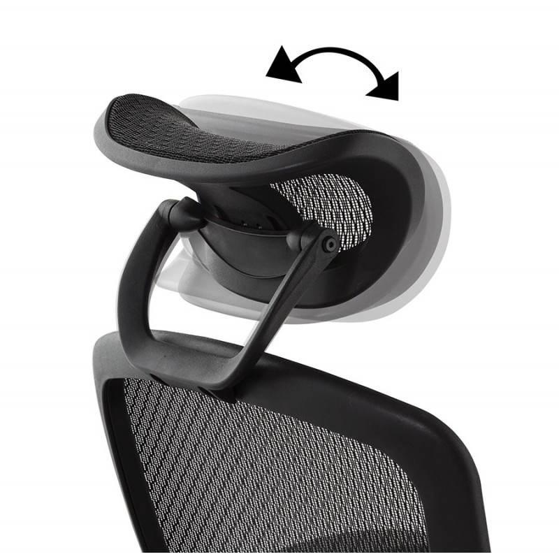 Fauteuil de bureau design et moderne ergonomique AXEL en tissu (noir) - image 28319