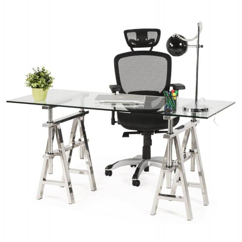 Fauteuil de bureau design et moderne ergonomique axel en tissu noir - Bureau design moderne ...
