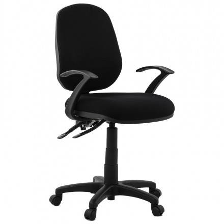 Ergonomic Office Chair with wheels BELOU (black) fabric
