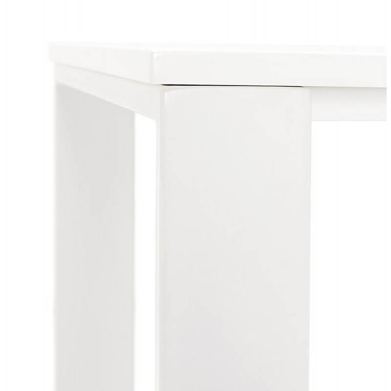 Bureau droit design ANTOUL en bois et métal (blanc brillant) - image 28350