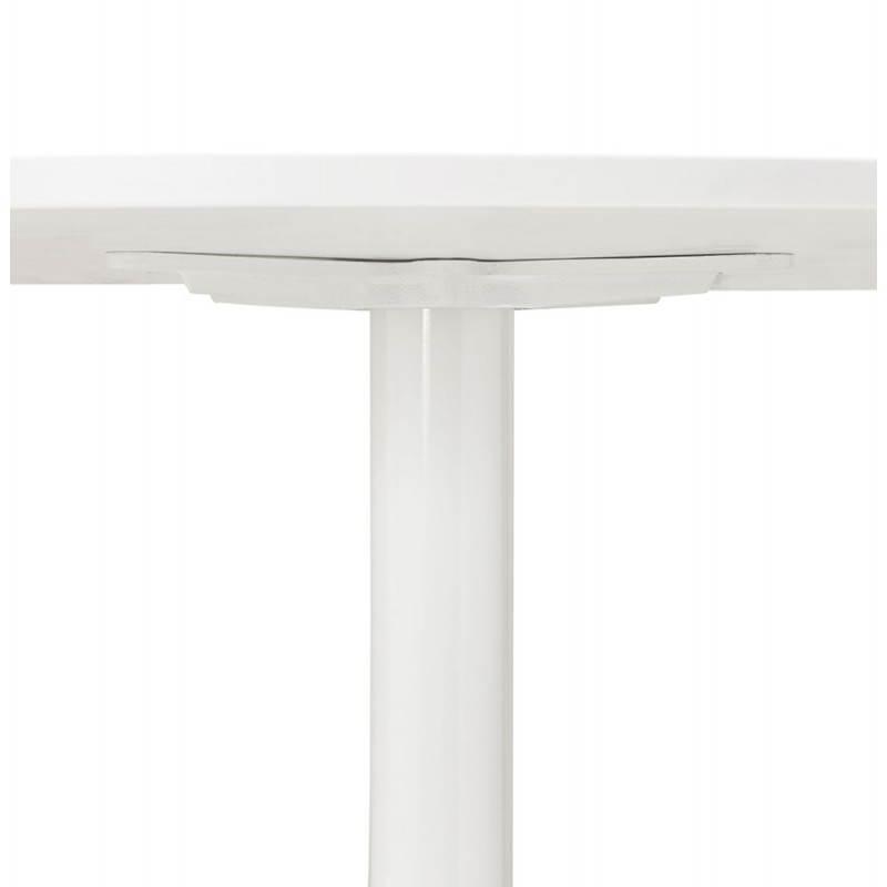 Table de repas ou bureau ronde design scandinave NILS en bois et métal peint (Ø 90 cm) (blanc) - image 28387