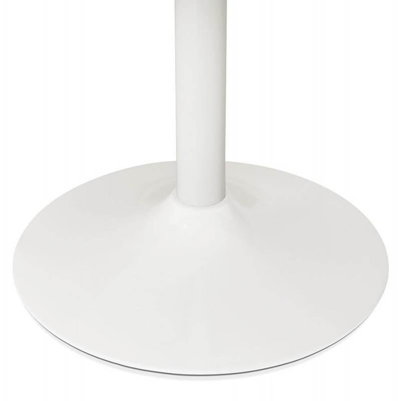 Table de repas ou bureau ronde design scandinave NILS en bois et métal peint (Ø 90 cm) (blanc) - image 28388